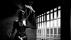 Fängelsestänger och en tolkning för hall 3d Royaltyfri Foto