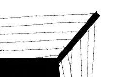 Fängelsevägg med försett med en hulling - tråd stock illustrationer