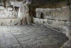 Fängsla i fängelsehåla på via Dolorosa, var var fången Barabbas Arkivbilder