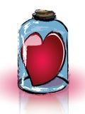 fängslad jar för hjärta Arkivbild