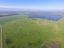 Fängt Langwelle Antennenkommunikation der Maste unter dem Reis floo auf Lizenzfreie Stockfotografie