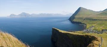 Färöer-Landschaft Stockfoto
