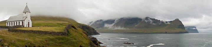 Färöer-Landschaft Lizenzfreie Stockfotos