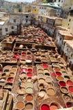 Färben in Fez Stockfotos
