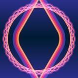 Färben-Rahmen-dunkel-blau-Hintergrund-Faser-Kabel Stockfoto