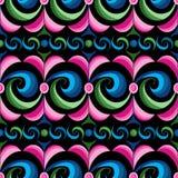 Färben Sie abstraktes nahtloses Wellenmuster Lizenzfreie Stockfotos