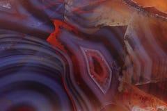 Färben Sie Achatmineralhintergrund Lizenzfreies Stockbild