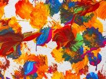 Färben Sie Acrylmalerei auf Papierhintergrundzusammenfassungsbeschaffenheit Stockbild