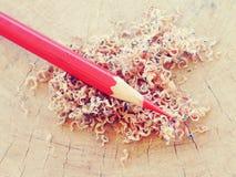 Färben Sie alte Retro- Weinlese der Bleistifte Lizenzfreies Stockfoto