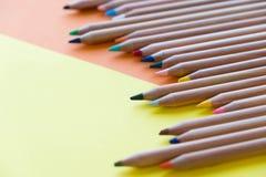 Färben Sie alte Retro- Weinleseart der Bleistifte Zeichenpapierbeschaffenheit Lizenzfreies Stockbild