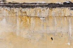 Färben Sie alte Wand gelb Lizenzfreies Stockbild