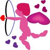 Färben Sie Amor voll von der LIEBE Lizenzfreie Stockfotos