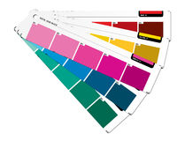 Färben Sie Anleitung purpurrot Stockfotos