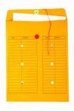 Färben Sie Bürokommunikationsumschlag gelb Lizenzfreies Stockbild