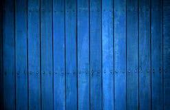 Färben Sie blaue hölzerne Hintergrundbeschaffenheitsweinlese Lizenzfreies Stockbild