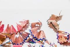 Färben Sie Bleistift übrig geblieben lizenzfreies stockbild
