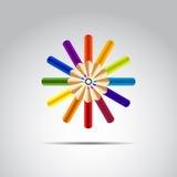 Färben Sie Bleistift Lizenzfreie Stockbilder