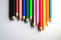 Färben Sie Bleistift Lizenzfreies Stockbild