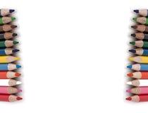 Färben Sie Bleistift getrennt auf weißem Hintergrund stockfotografie