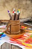 Färben Sie Bleistifte Lizenzfreies Stockfoto