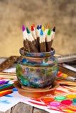 Färben Sie Bleistifte Lizenzfreie Stockfotografie