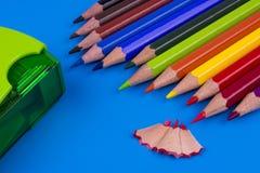 Färben Sie Bleistifte Lizenzfreies Stockbild