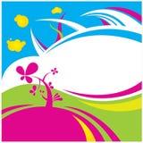 Färben Sie Blumenvektorhintergrund stock abbildung