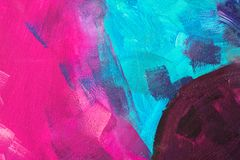 Färben Sie das Segeltuch mit Ölfarben Lizenzfreies Stockbild