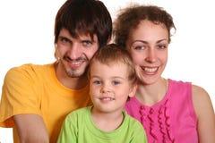 Färben Sie Familie stockbilder
