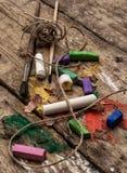 Färben Sie Farben, Zeichenstifte und Bleistifte für das Zeichnen Lizenzfreies Stockfoto