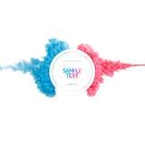 Färben Sie Farbenwolke, das abstrakte flüssige lokalisierte Spritzen der Tinte Lizenzfreies Stockfoto