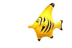 Färben Sie Fische - Dekoration gelb Lizenzfreie Stockbilder