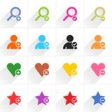 Färben Sie flache Ikone des zusätzlichen Zeichens Lizenzfreies Stockbild