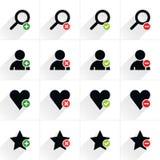 Färben Sie flache Ikone des zusätzlichen Zeichens Lizenzfreie Stockfotos