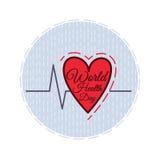 Färben Sie flache Illustration eingeweiht dem Gesundheitstag Stockfoto