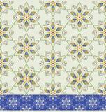 Färben Sie geometrisches nahtloses mit Blumenmuster Stockbilder