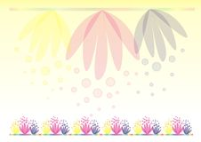 Färben Sie Hintergrund mit Blumen gelb Stockbild