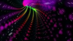 Färben Sie hintergrundschleife abstrakter bunter Kreise //1080p der Torsion 1 Video stock abbildung