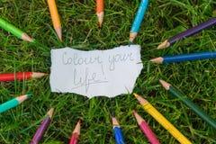 Färben Sie Ihr Leben Stockbild