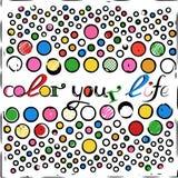 Färben Sie Ihr Leben Stockfoto