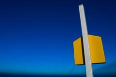 Färben Sie Kasten gelb Stockfoto