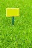 Färben Sie Kennsatz gelb Lizenzfreies Stockfoto