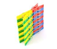 Färben Sie Kleidungklammern Lizenzfreie Stockbilder