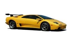 Färben Sie Lamborghini - Seitenansicht gelb Stockfotos