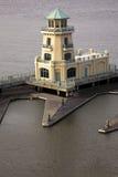 Färben Sie Leuchtturm in Biloxi gelb Stockfotos