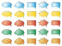 Färben Sie Luftblasenansammlung Lizenzfreies Stockfoto