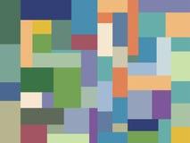 Färben Sie mehrfarbigen Minimalisten des Blockbauweise-Musters Stockfoto
