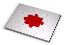 Färben Sie Puzzlespiel mit Tendenzwort Stockfotos