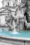 Färben Sie Spritzeneffektfoto des Brunnens der vier Flüsse herein stockfotos