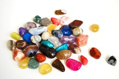 Färben Sie Steine Stockfoto